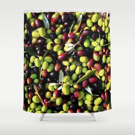 Organic Olives Shower Curtain