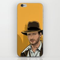 indiana jones iPhone & iPod Skins featuring Indiana by Akyanyme