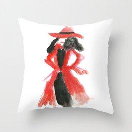Carmen San Diego Throw Pillow