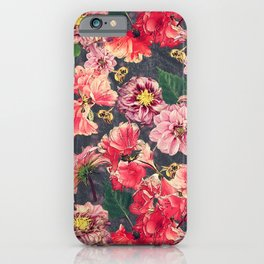 Vintage Flowers and Bees iPhone Case