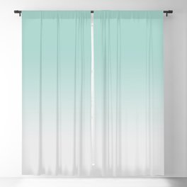 Ombre Duchess Teal and White Smoke Blackout Curtain