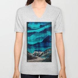 Skyfall, Melting Blue Sky Unisex V-Neck