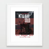 metal gear solid Framed Art Prints featuring Solid - Metal Gear by TomStreetArt