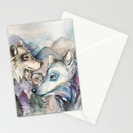 Wolf protection Stationery Cards