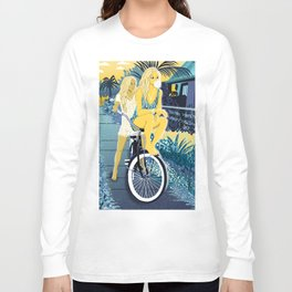 The girls on the bike Long Sleeve T-shirt