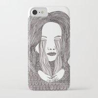 aquarius iPhone & iPod Cases featuring Aquarius by Samantha Dolan