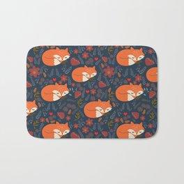 sleeping foxes Bath Mat