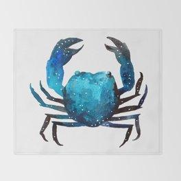 Cerulean blue Crustacean Throw Blanket