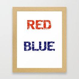Patriotic Red Wine and Blue Framed Art Print