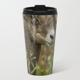 Ram Eating Fireweed cropped Travel Mug