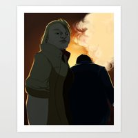 Even Into Hell Art Print
