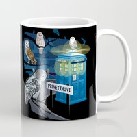 hedwig Mugs featuring Hedwig Says Who! by Laughing Devil