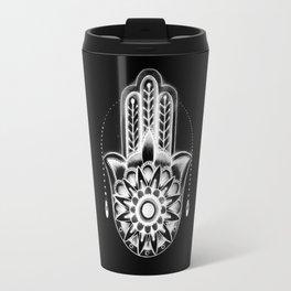 Hamsa Hand Black Travel Mug