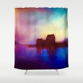 Eilean Donan Castle Sunset Shower Curtain