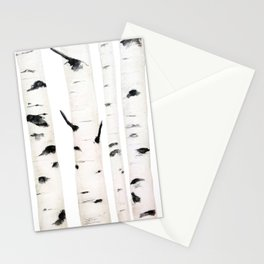 birch  watercolor Stationery Cards