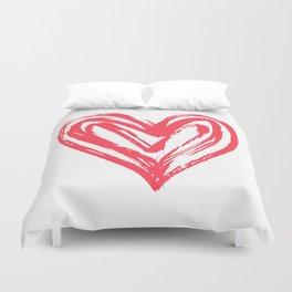 Hand drawn doodle heart Duvet Cover
