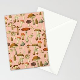 Mushrooms pink Stationery Cards
