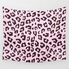 Leopard Print - Pink Chocolate Wall Tapestry