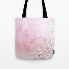 Rose and waterdrops Tote Bag