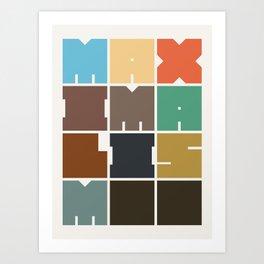 MAXIMALISM.. (Colors) Art Print