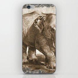 Elephant Sketch (Monochrome) iPhone Skin