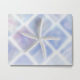 """ArtfulNotions #175"" Blue Starfish Art by Murray Bolesta! Metal Print"