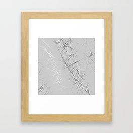 Silver Splatter 089 Framed Art Print