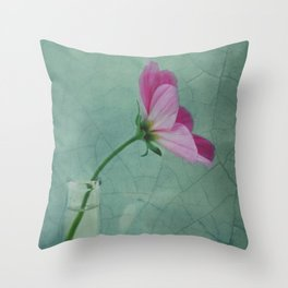 The flower speaks of love silently, in a language known only to the heart Throw Pillow