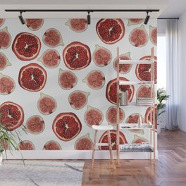 Figs - Pomegranate - white Wall Mural