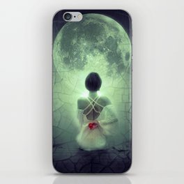 Fantasy Image Bride Staring at the Moon iPhone Skin