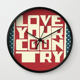 Love Your Country Wall Clock
