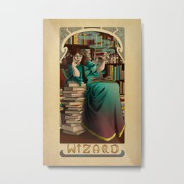 La Magicien - The Wizard Metal Print