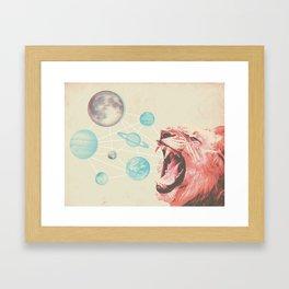Solar system lion Framed Art Print