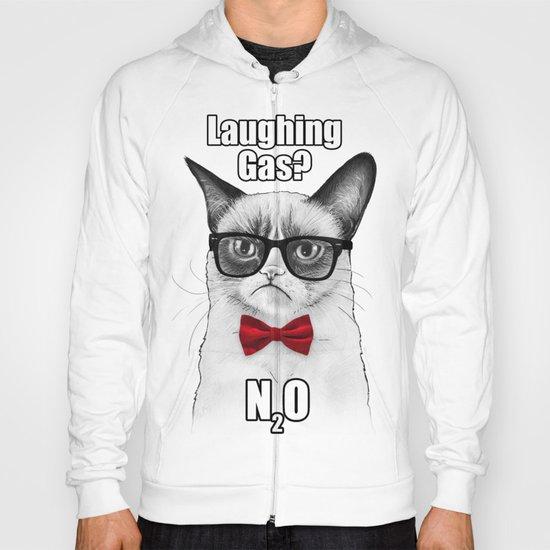 Grumpy Chemistry Cat Geek Science Meme Whimsical Animals in Glasses Hoody