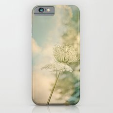 Cloudy with Sunshine and Queen Anne's Lace Wild Flowers in a Meadow iPhone 6s Slim Case
