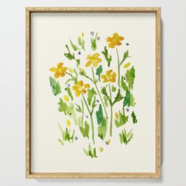 Buttercups Watercolor Serving Tray