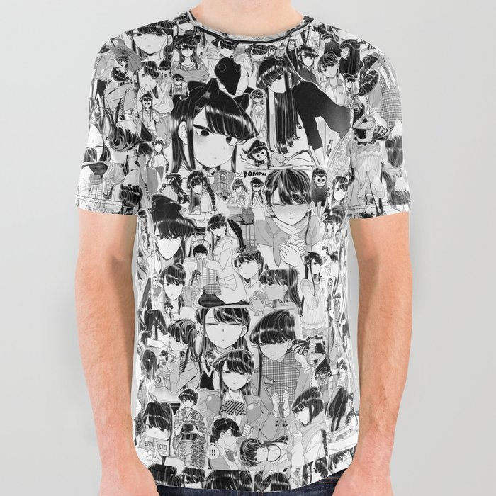 Komisan Collage All Over Graphic Tee