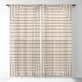 Layers 2 black Sheer Curtain