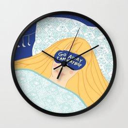 Sleepy Head & Evil Eye #illustration Wall Clock