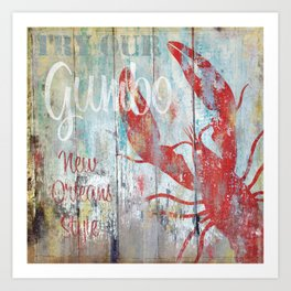 New Orleans Gumbo Sign Art Print