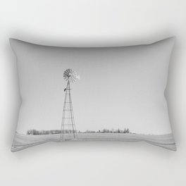Windmill in the Countryside Rectangular Pillow