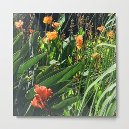 Exotic Garden With Glorious Majestic Flowers Metal Print