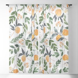 Orange Grove Sheer Curtain