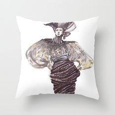 Fashion sketches in mixed technique Throw Pillow