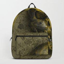 skull gold art decor Backpack