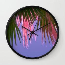 Neon Tropics Wall Clock