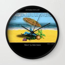 """Beirut"" for ""Destin de carte postale"" by Denis Dubois Wall Clock"