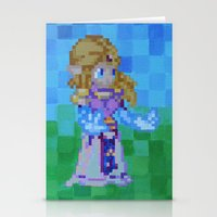 8bit Stationery Cards featuring 8bit Zelda by Cariann Dominguez