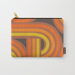 70's Orange Funky Carry-All Pouch