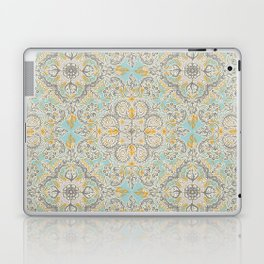 Gypsy Floral in Soft Neutrals, Grey & Yellow on Sage Laptop & iPad Skin